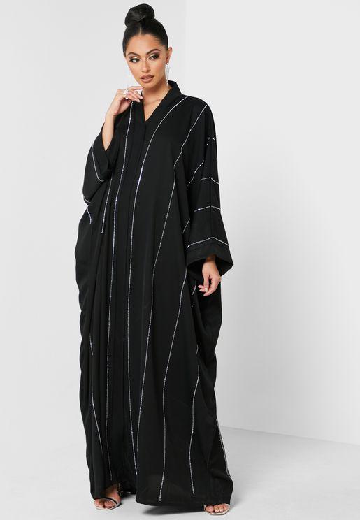 Lurex Stripe Abaya
