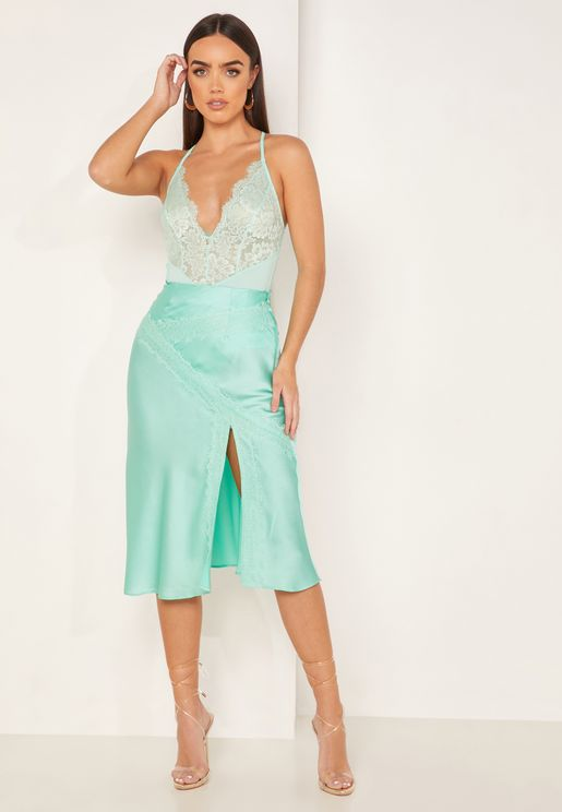 Evangeline Side Split Skirt