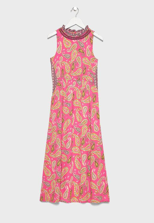 Youth Printed Maxi Dress
