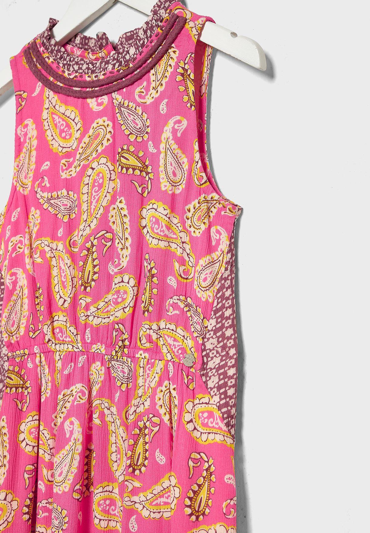 Youth Printed Maxi Dress