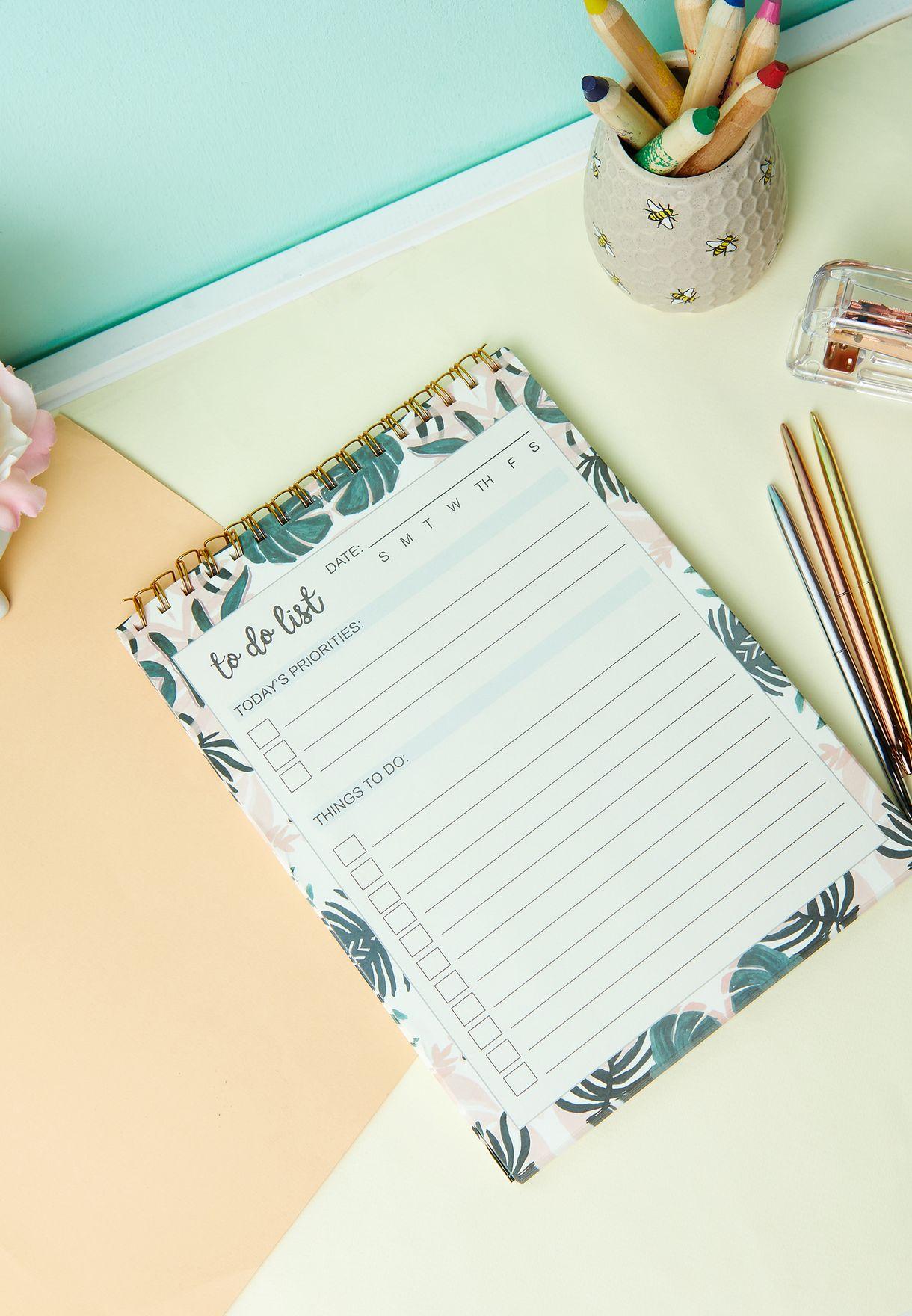 A4 Tropical Leaf Notebook