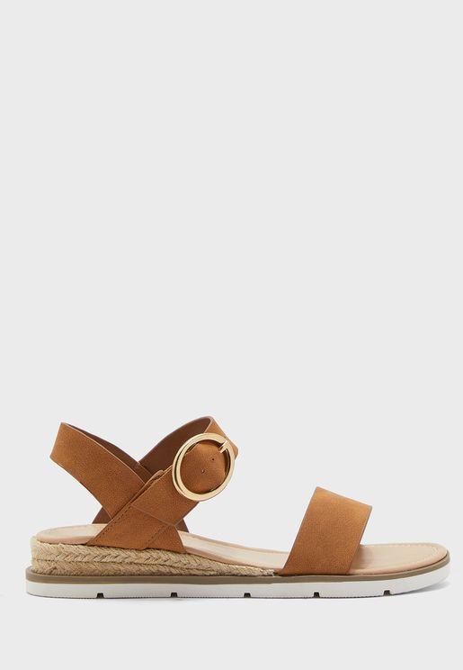 Radiate Ankle Strap Low Heel Sandal