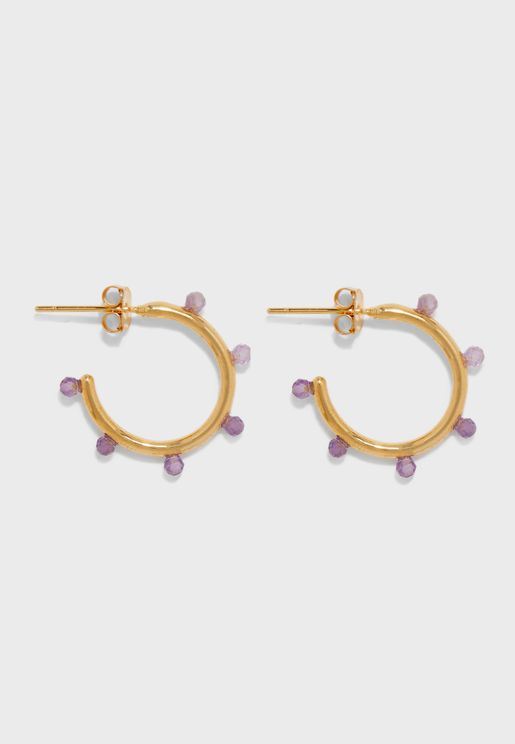Bead Station Hoop Earrings