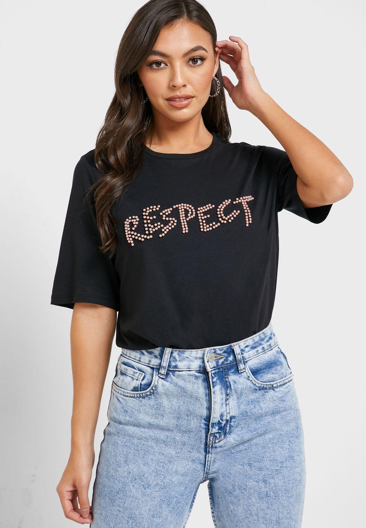 Slogan Crew Neck T-Shirt
