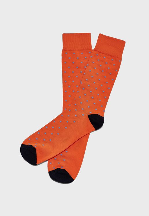 Dot Print Crew Socks