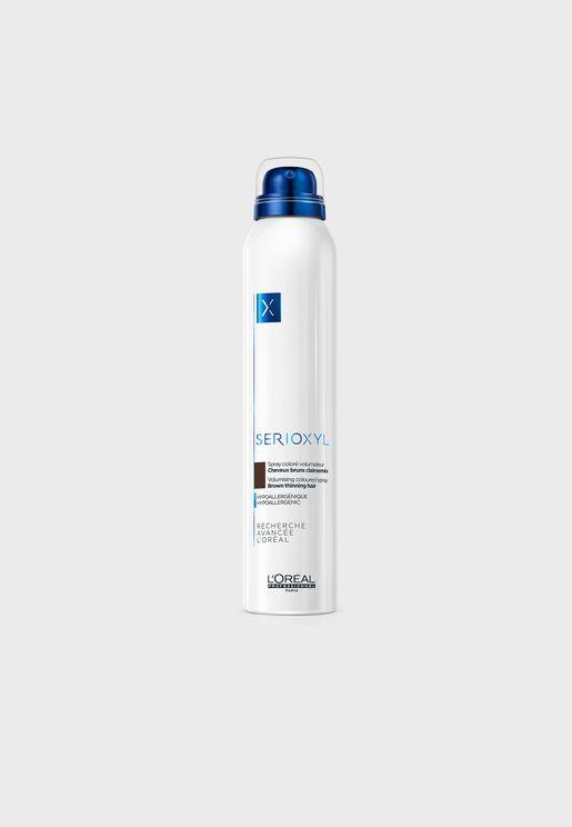 Serioxyl Volumizing Brown Colored Hair Spray For Thinning Hair 200ml