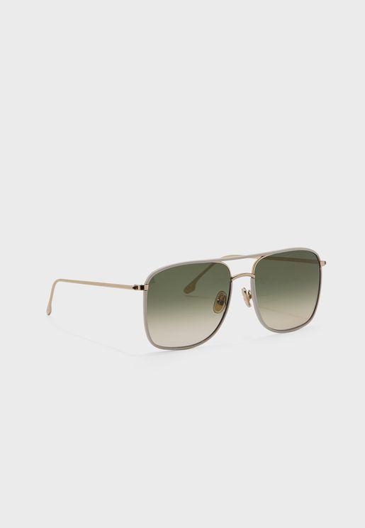 نظارة شمسية بعدسات كبيرة الحجم