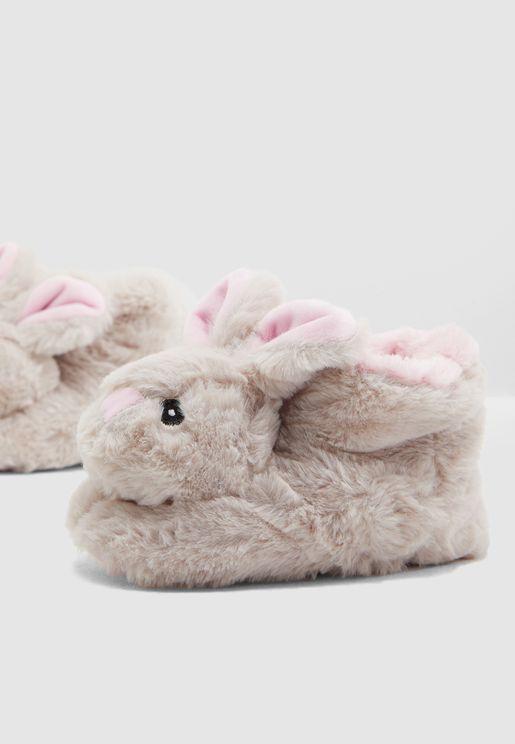 حذاء مزين بشكل ارنب للاطفال