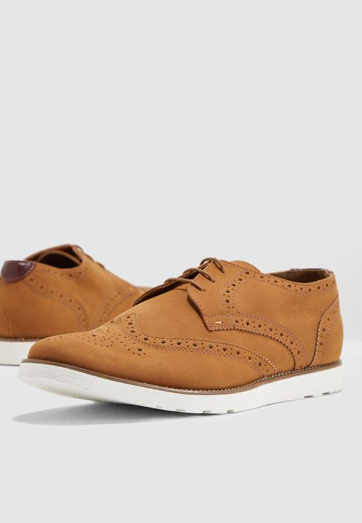 Faux Suede Magic Brogues