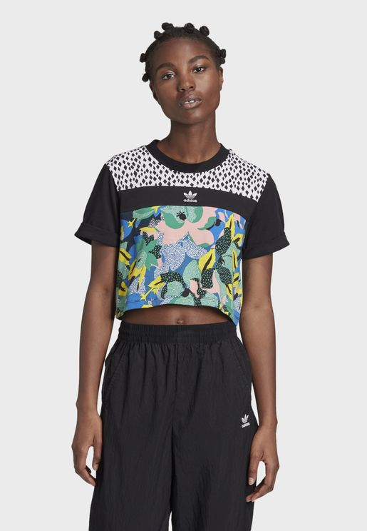 Cropped Graphics Casual Women's T-Shirt