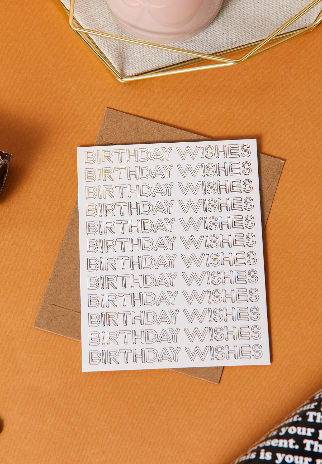 Large Wishes Birthday Card
