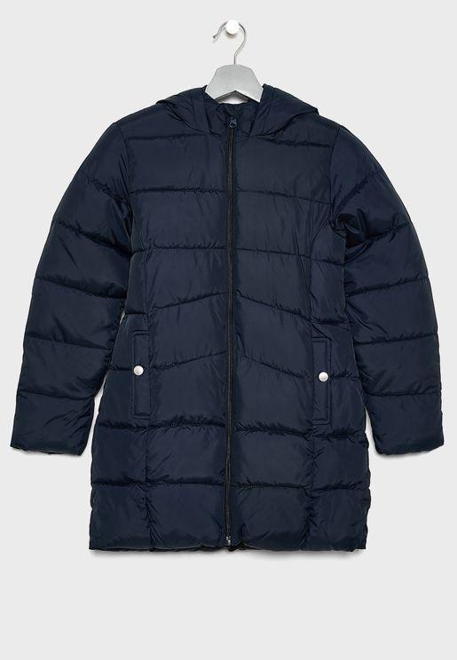 Kids Hooded Zip Through Jacket