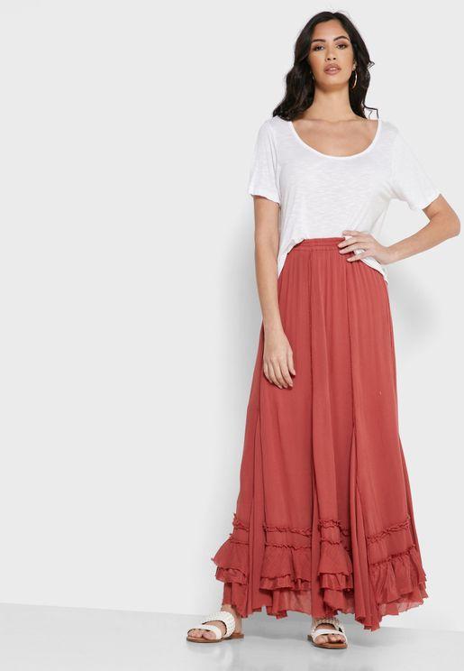 Cypress Ruffle Hem Skirt