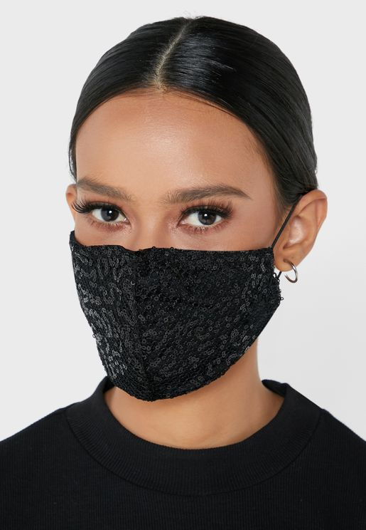 Woven Sequins Mask