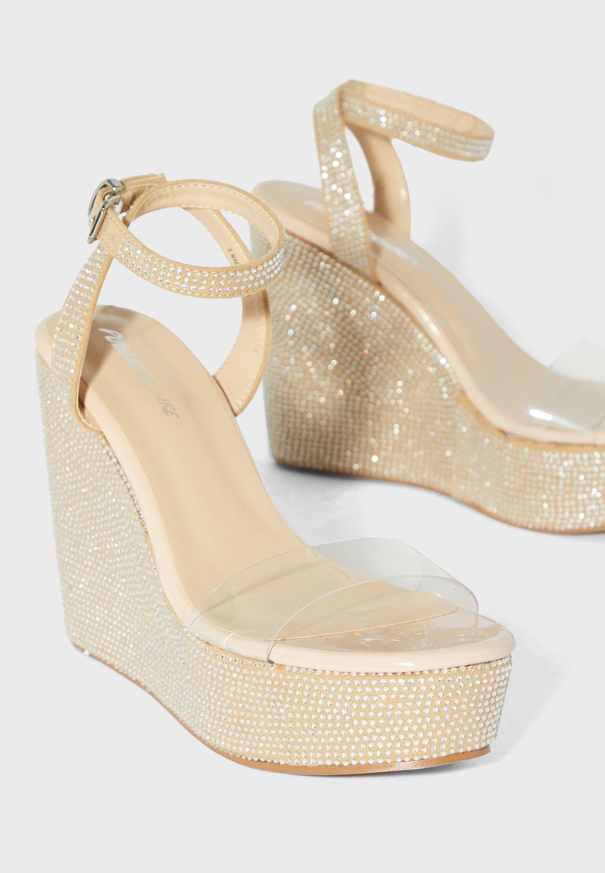Slingback Ankle Strap Wedge Sandal