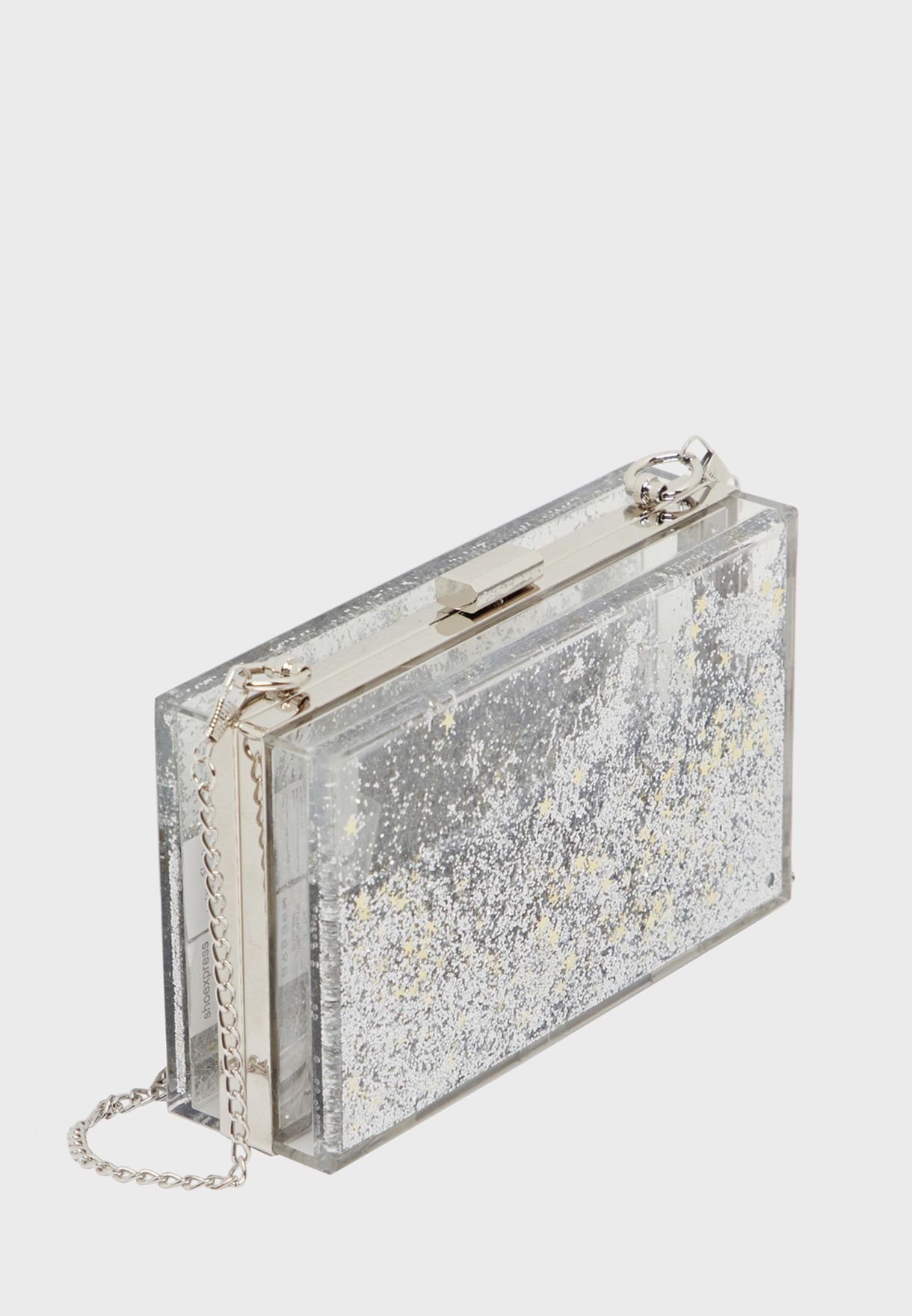 Magnetic Clasp Chain Detail Clutch
