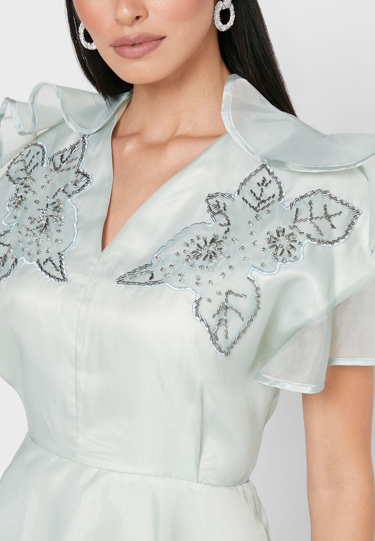 Layered Lace Detail Dress