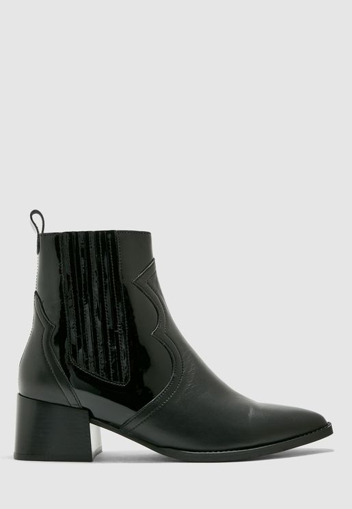 Minea Striped Detail Boot