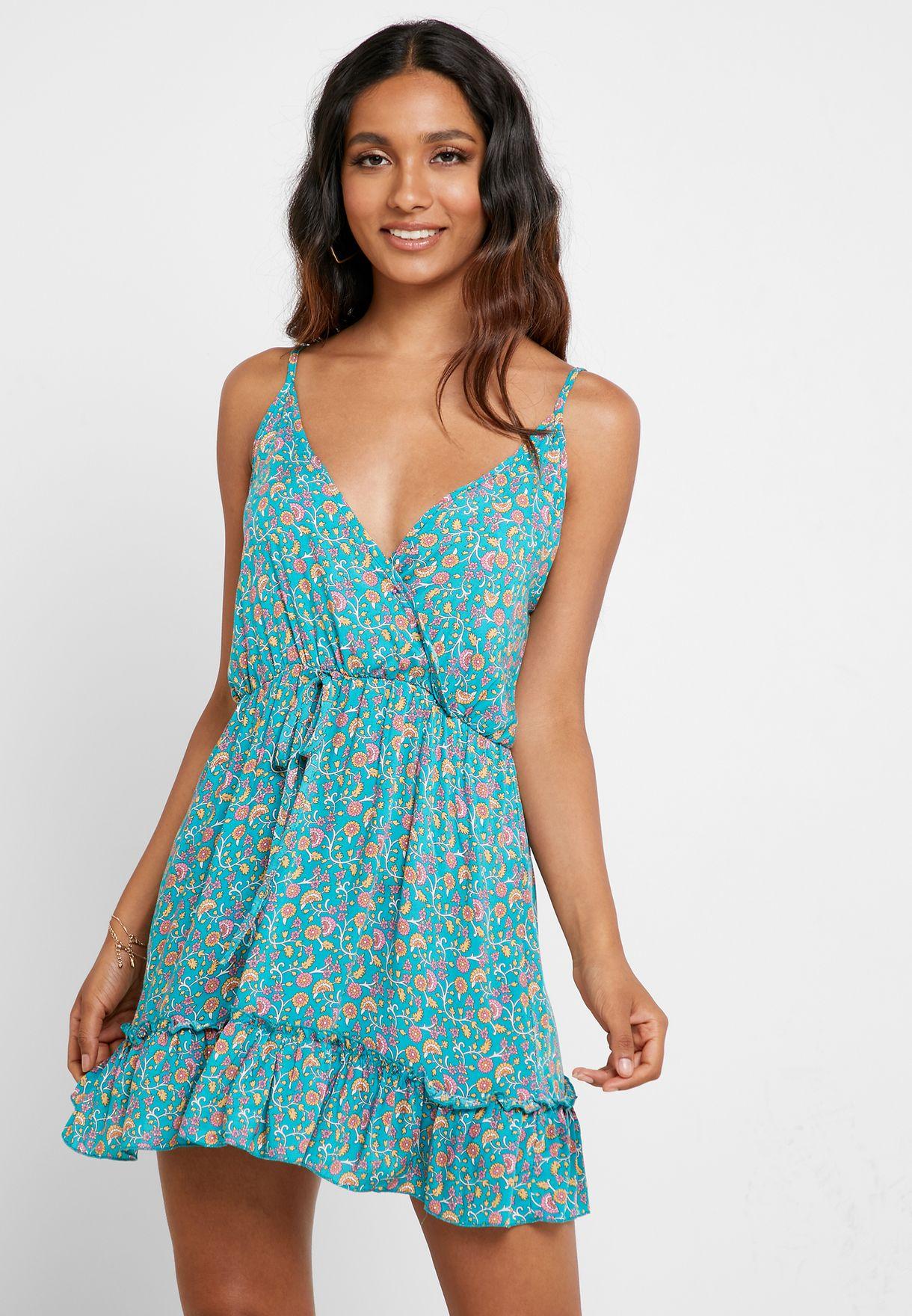 فستان بطباعة زهور