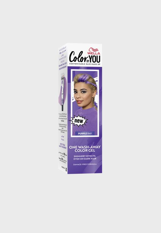One Wash-Away Hair Color Gel Purple Ray