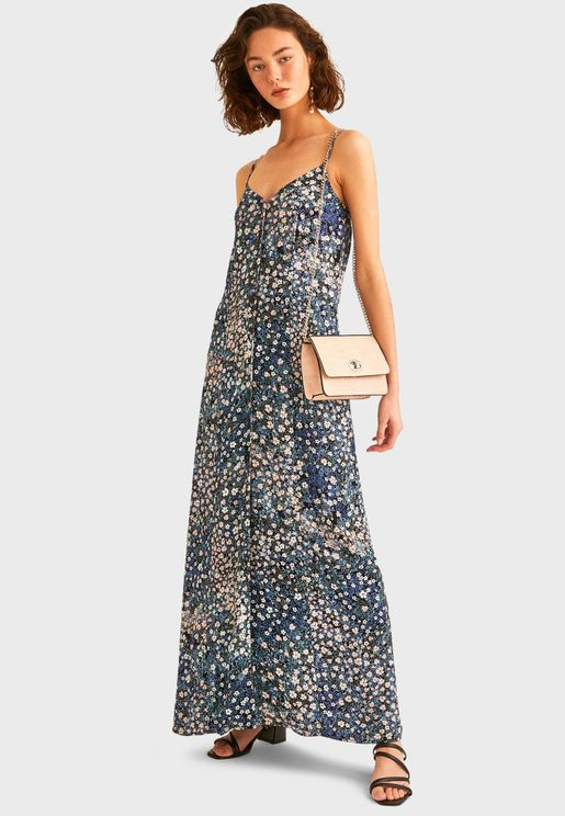 Printed Knitted Dress