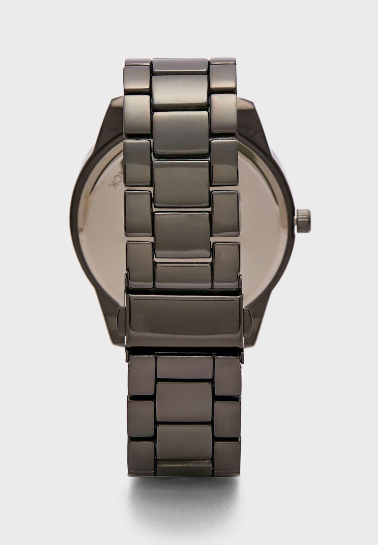 Gunmetal Bracelet Formal Analogue Watch