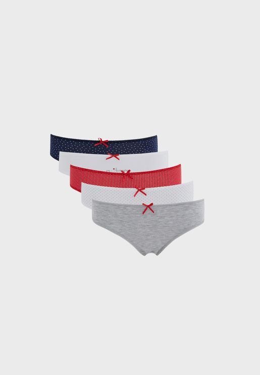 5 Pack Bow Detail Brief