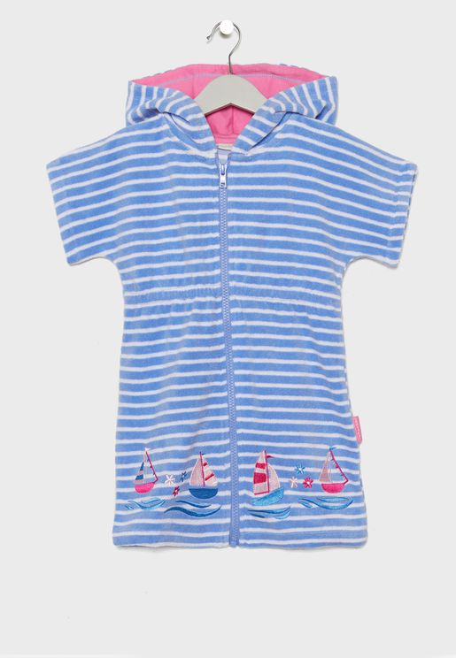 Kids Hooded Towelling Beach Dress