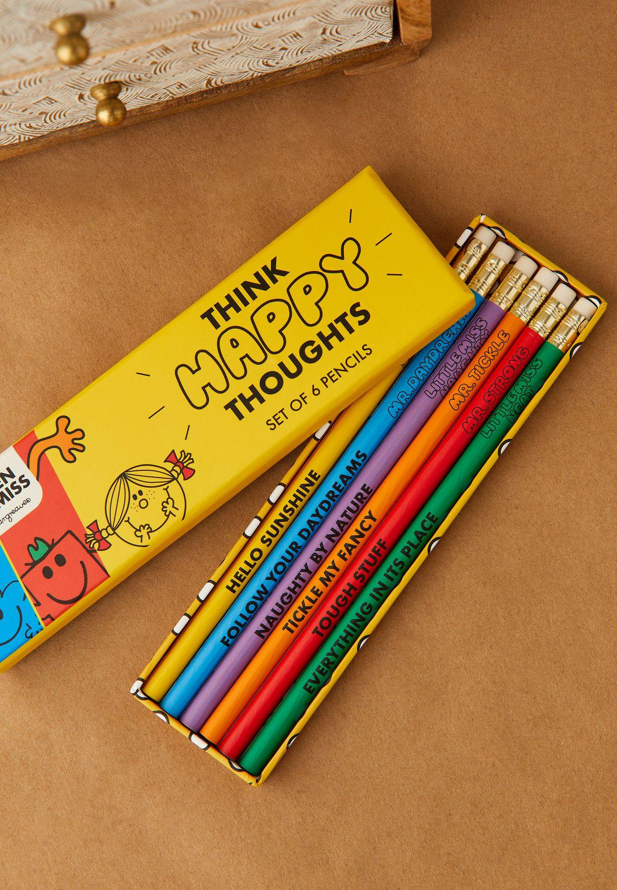 مجموعة من 6 أقلام رصاص