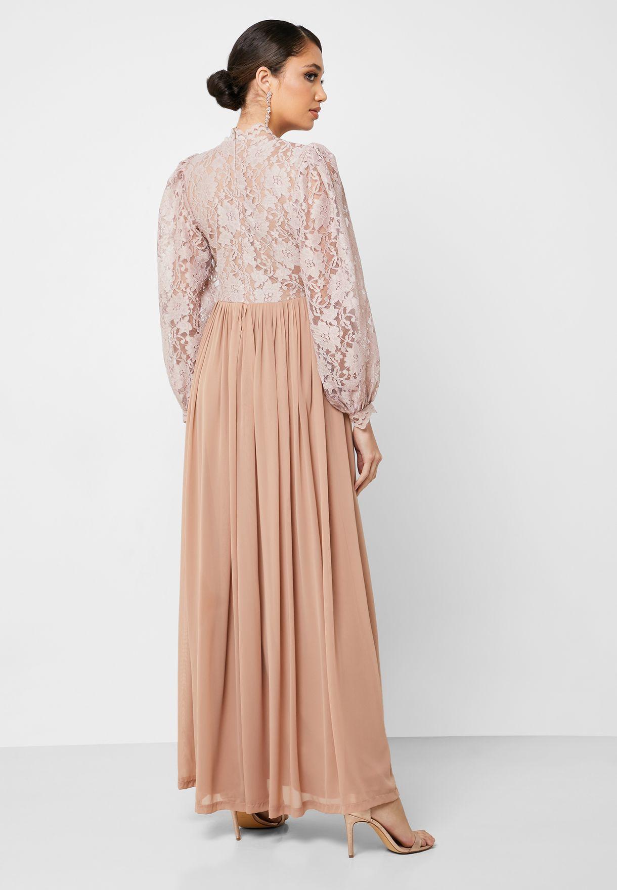 Lace Top Maxi Dress