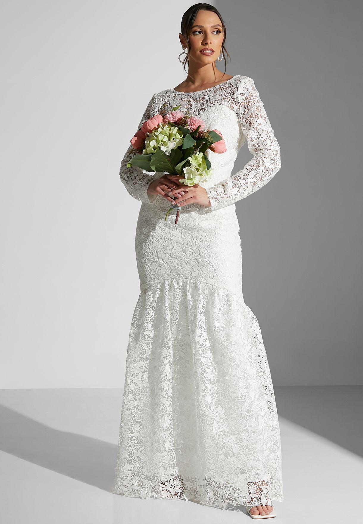 Josette Fishtail Hem Lace Dress