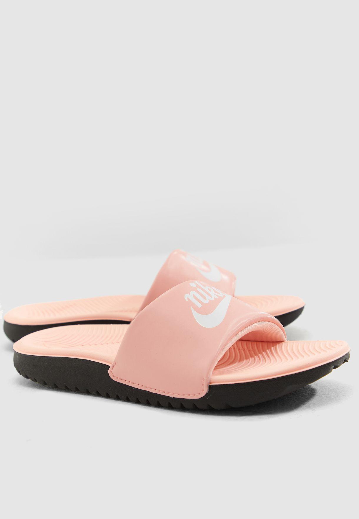 55201efcc229 Shop Nike pink Kids Kawa Slide Vday BQ7427-600 for Kids in UAE ...