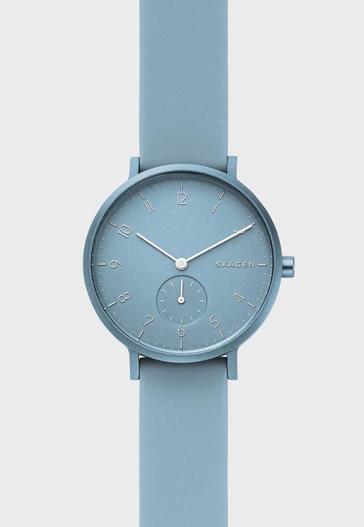 Aaren Silicone Strap Watch