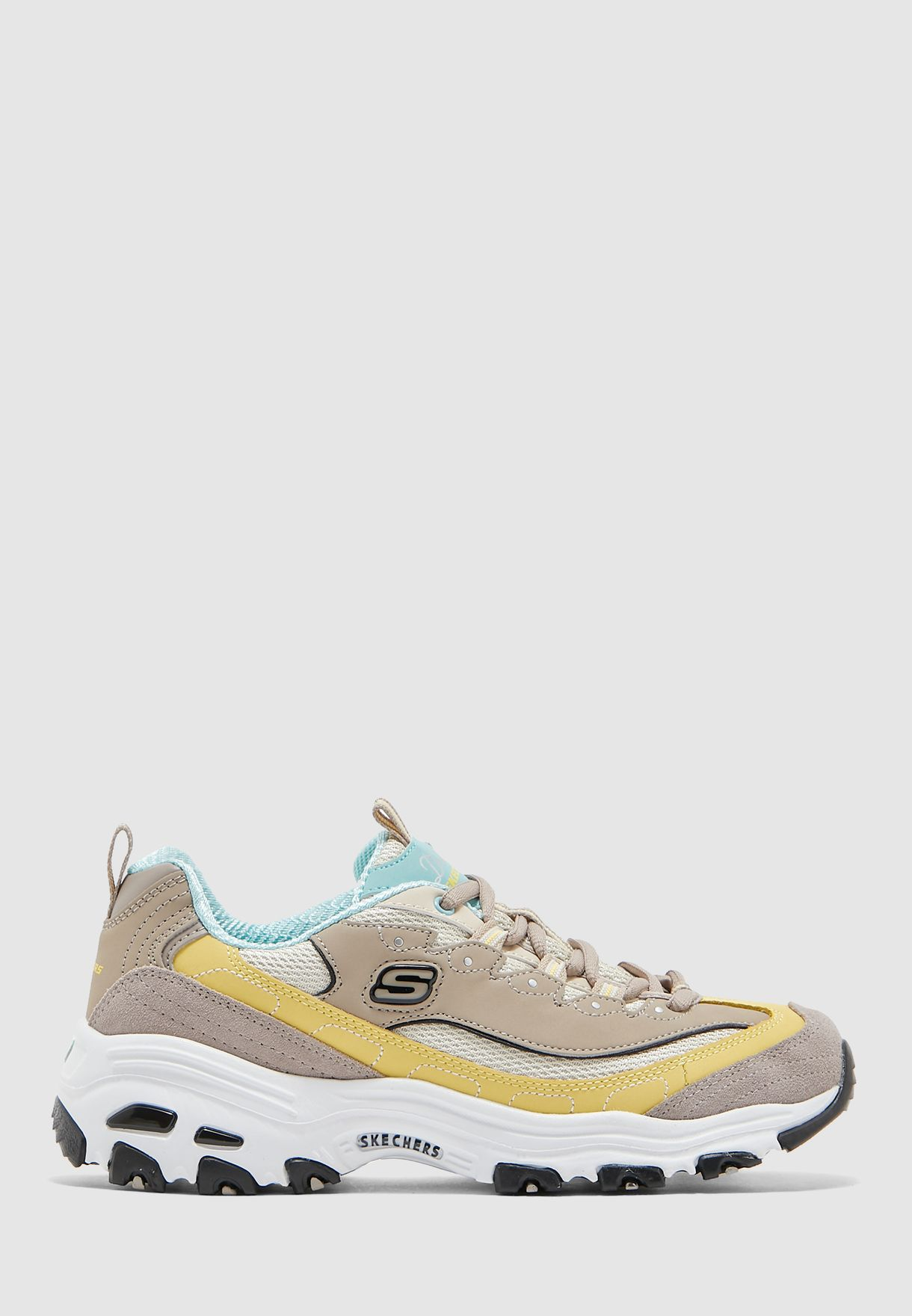 Skechers beige D\u0026#39;Lites for Women