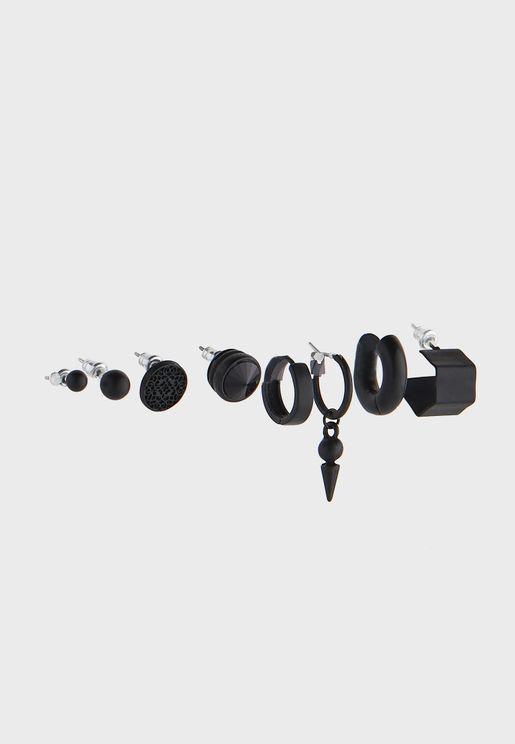 8 Pack Mixed Pierced Earrings