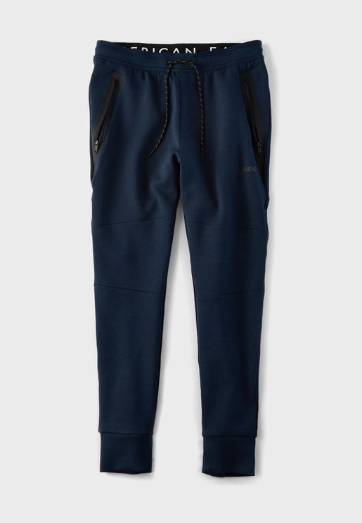 Zip Pocket Cuffed Sweatpants