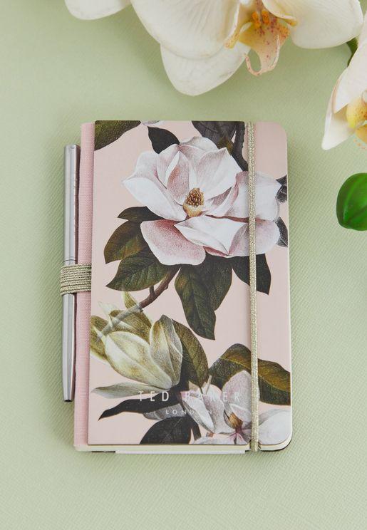 دفتر ملاحظات ميني مع قلم