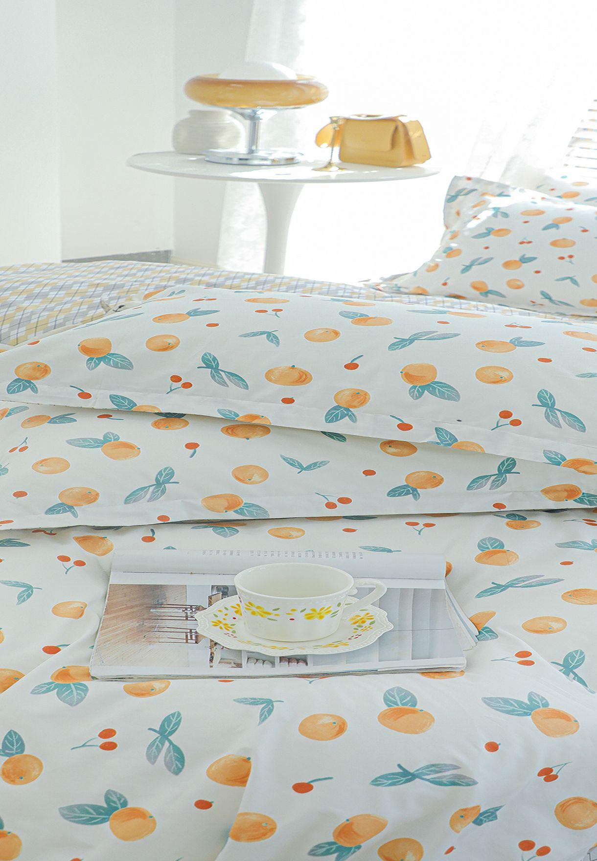 King Floral Print Bedding Set 200 X 230Cm