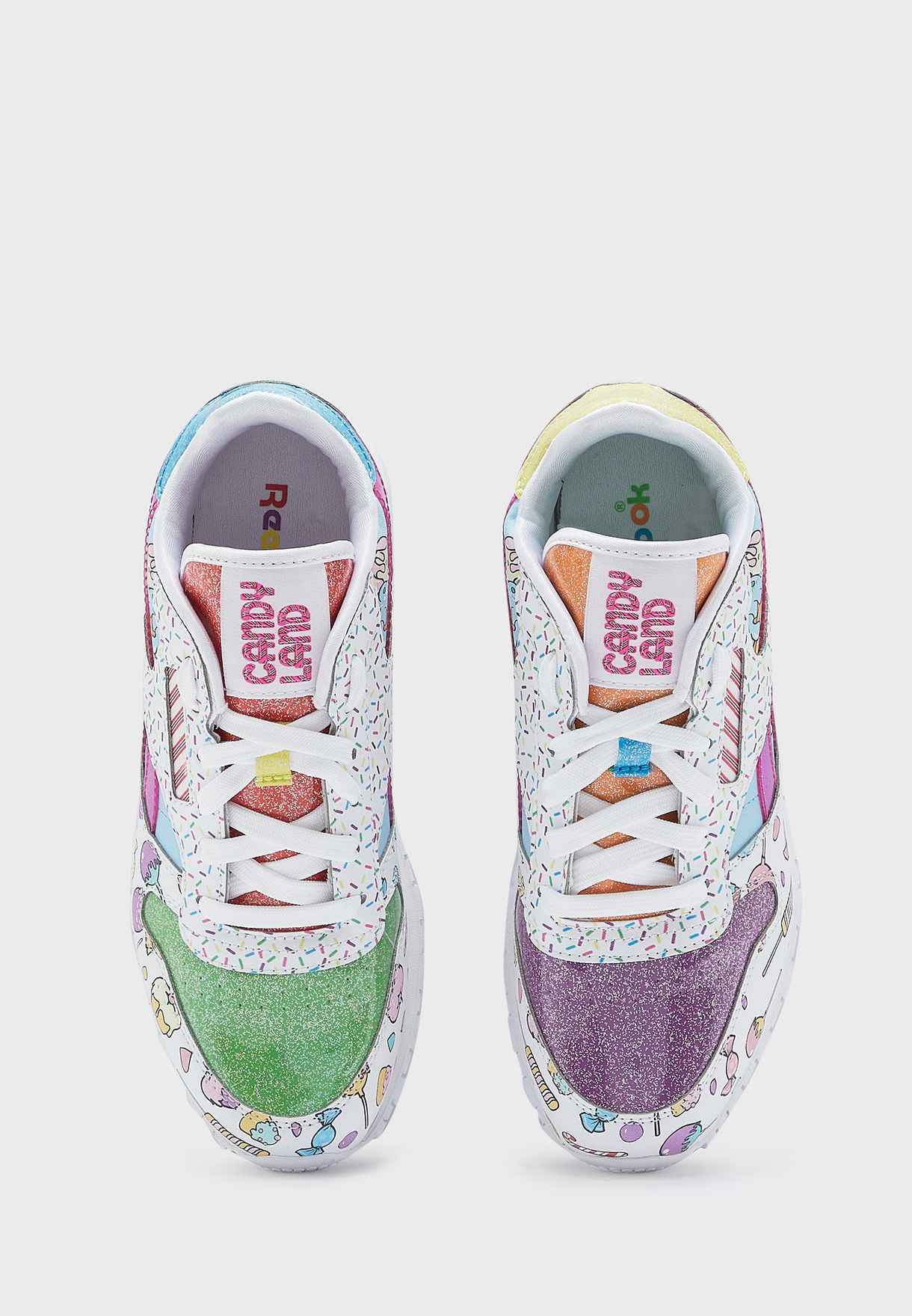حذاء جلد من مجموعة ريبوك x كاندي لاند