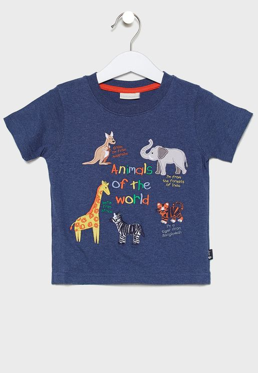 Kids Animals Of The World T-Shirt