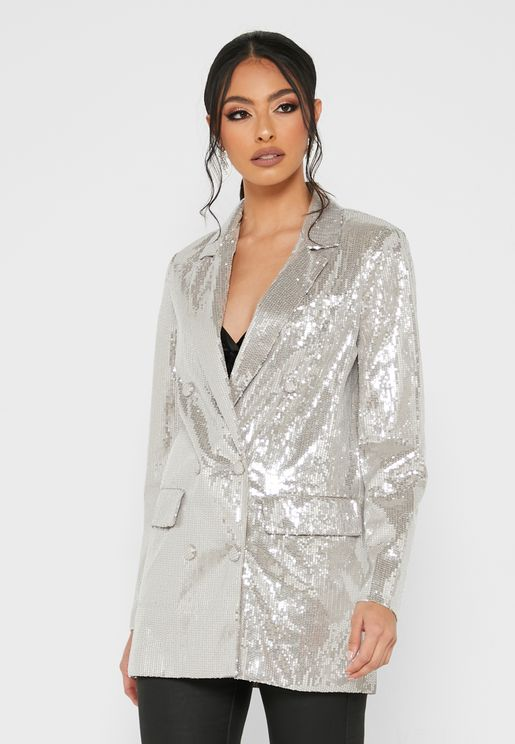 Sequin Double Breasted Jacket