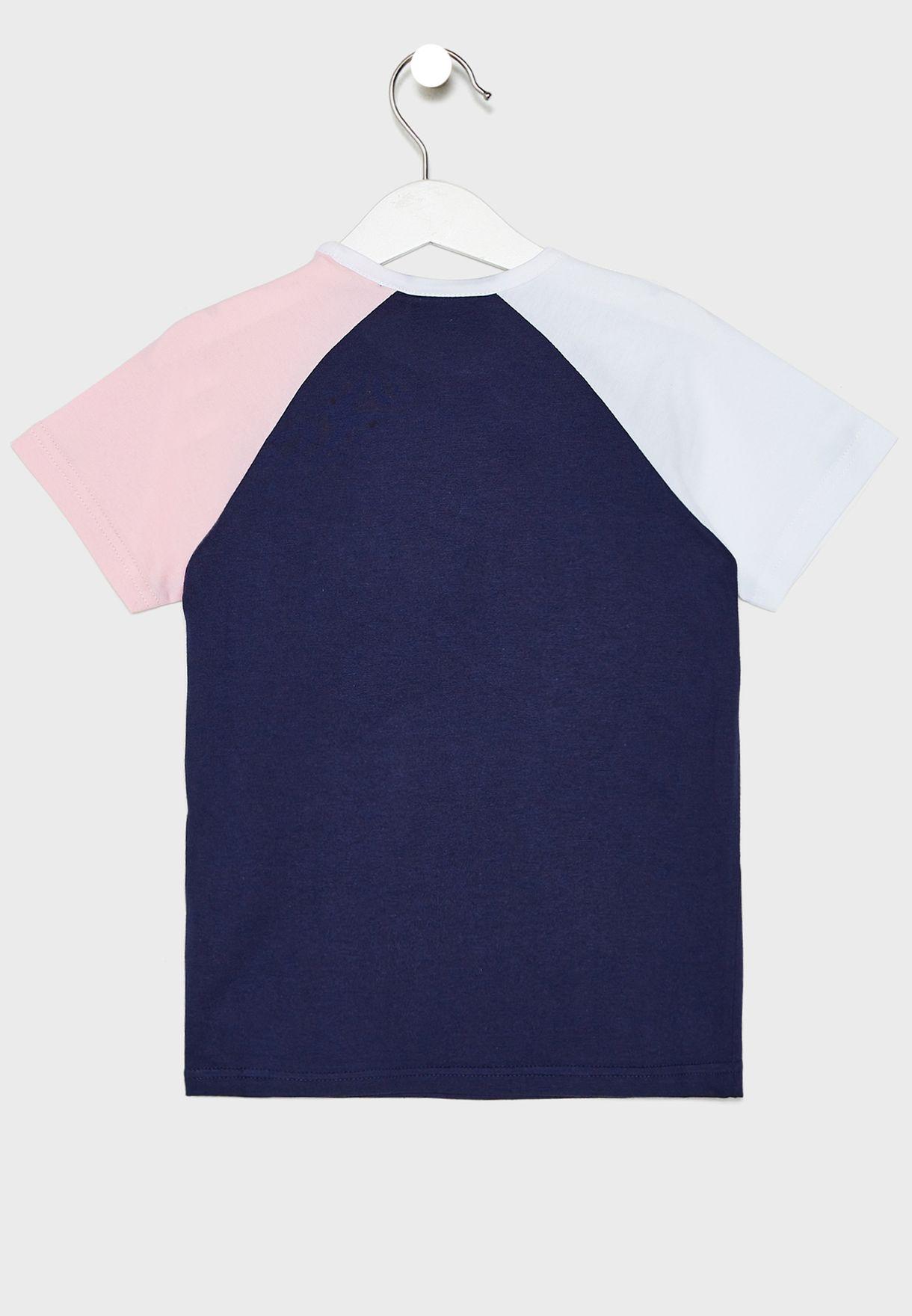 Kids Harpreet Colour Block T-Shirt