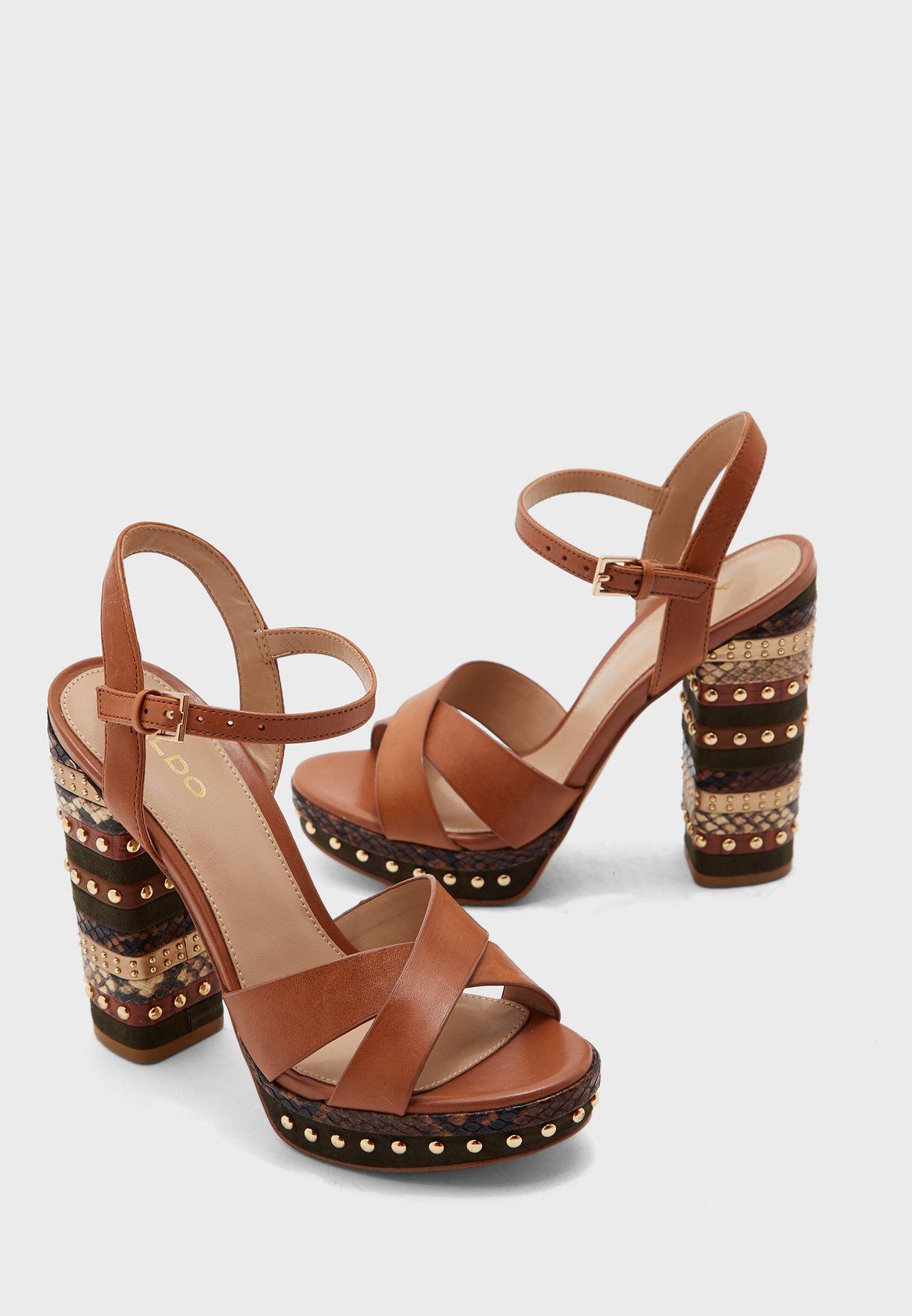 Galaecia Ankle Strap Sandal - Brown