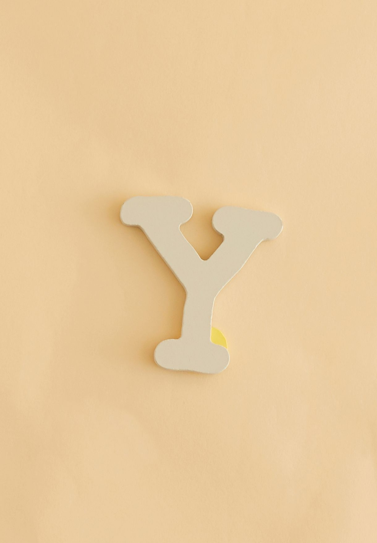 Initial Y Wooden Letter