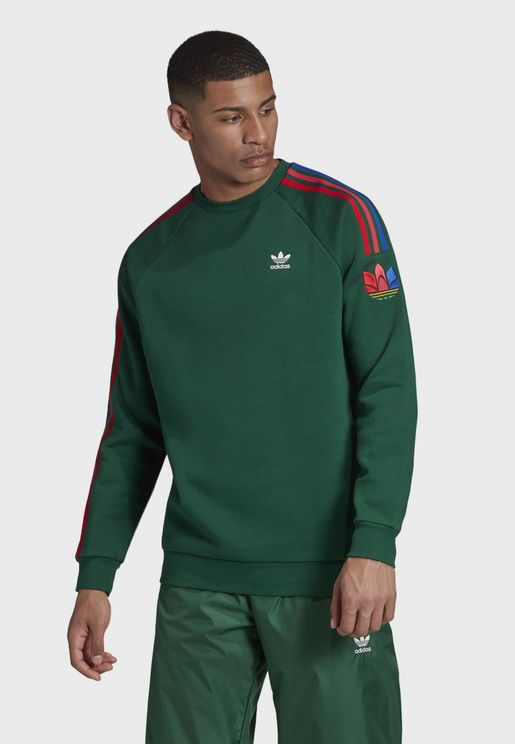 adicolor 3 Stripe Trefoil Sweatshirt