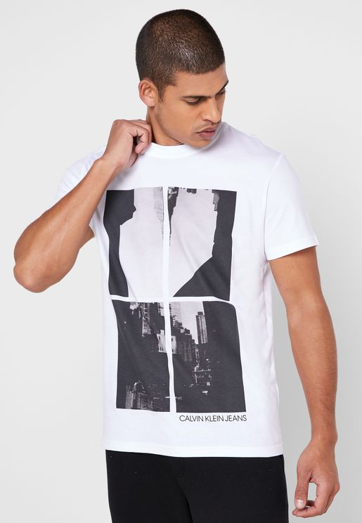 Upscaled Photo Print Regular Fit T-Shirt