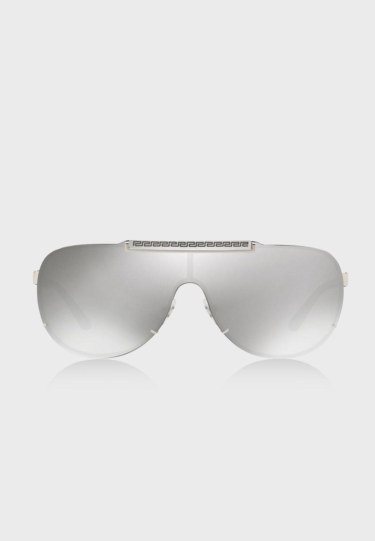 32b06c2b8 تسوق نظارة شمسية فايزور 0VE2140 ماركة فيرساتشي لون فضي 8053672820959 ...