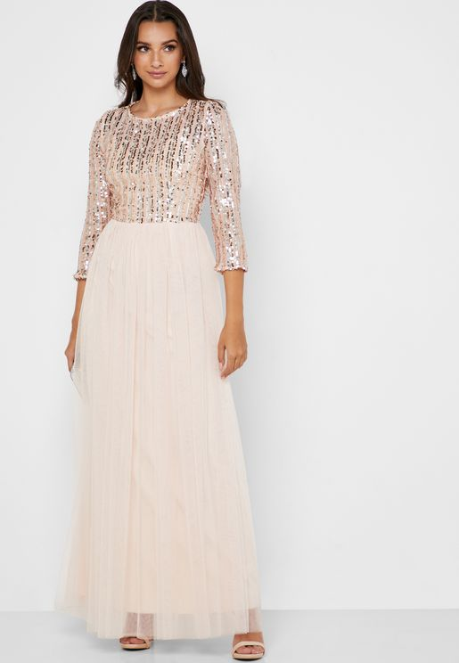 Sequin Detail Dress