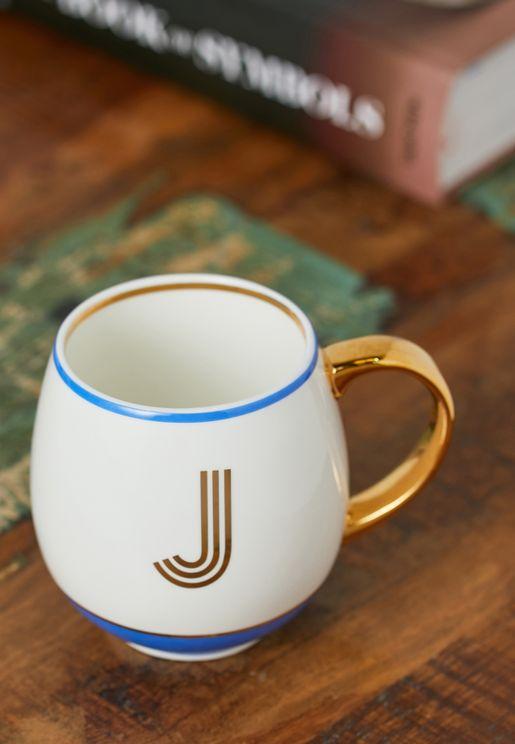 Initial J Mug