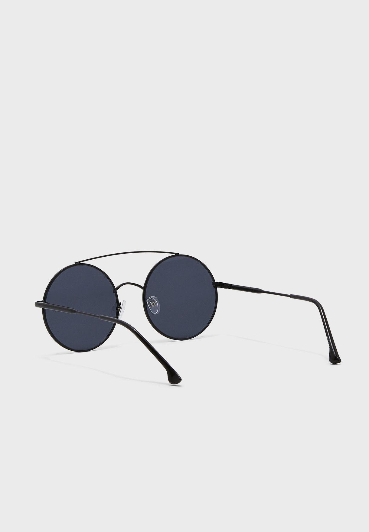 نظارة شمسية دائرية معدنية